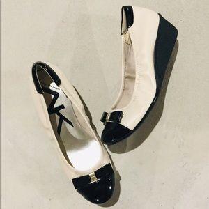 {Anne Klein Sport}  Cap-Toe Ballet Wedges